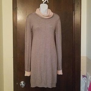 Philosophy Grey Pink Cowl Neck Sweater Dress